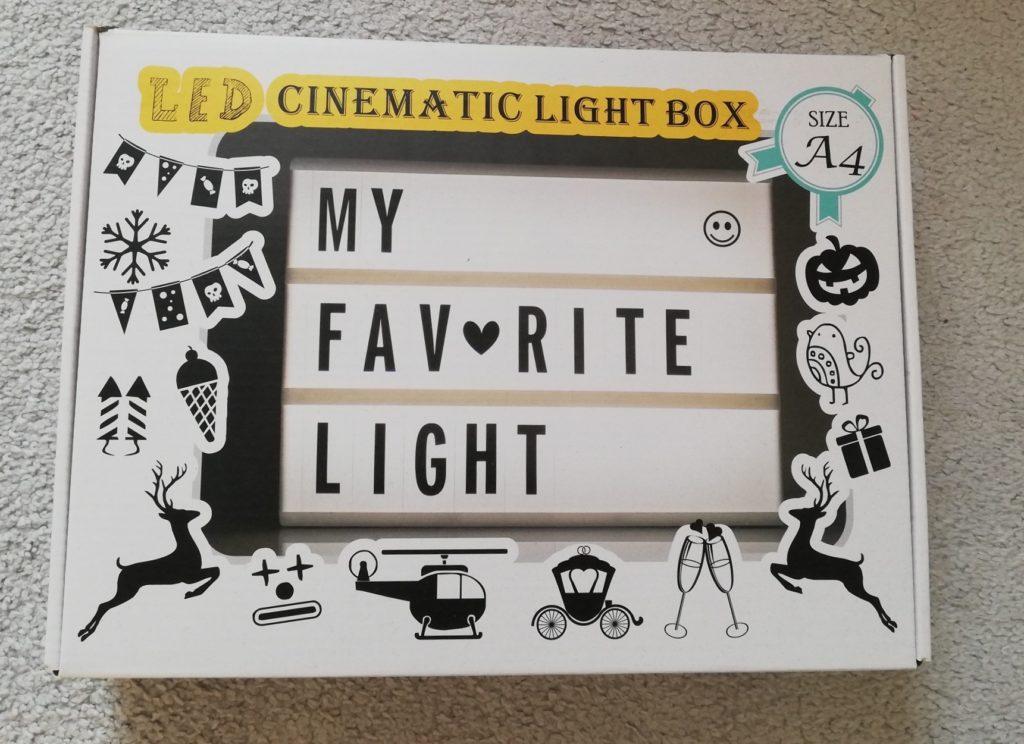 Verpackung der Lightbox