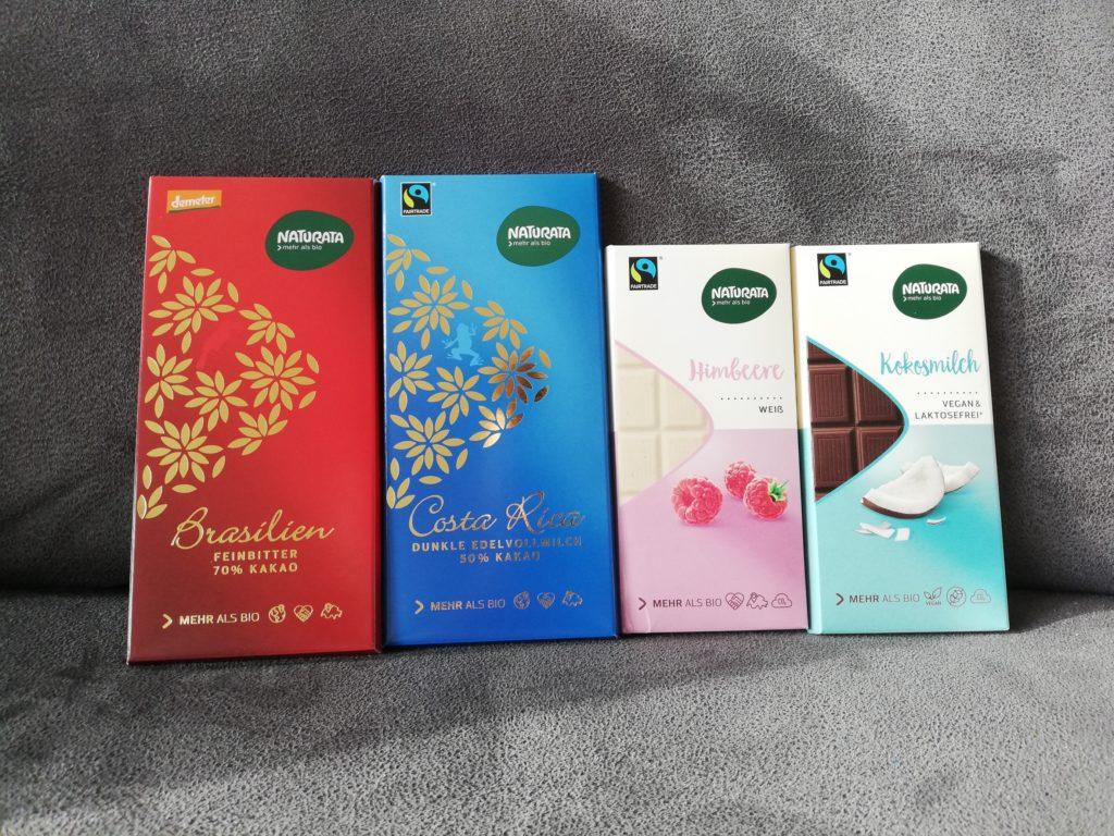 Schokoladen von Naturata