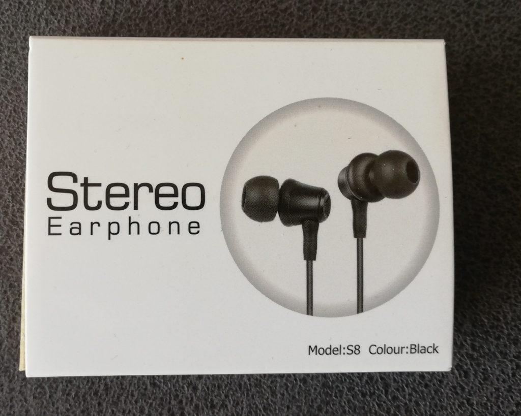 Verpackung der In Ear Kopfhörer