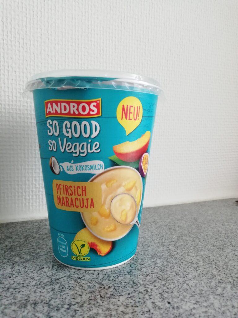 so good so veggie Pfirsich-Maracuja Joghurt von Andros