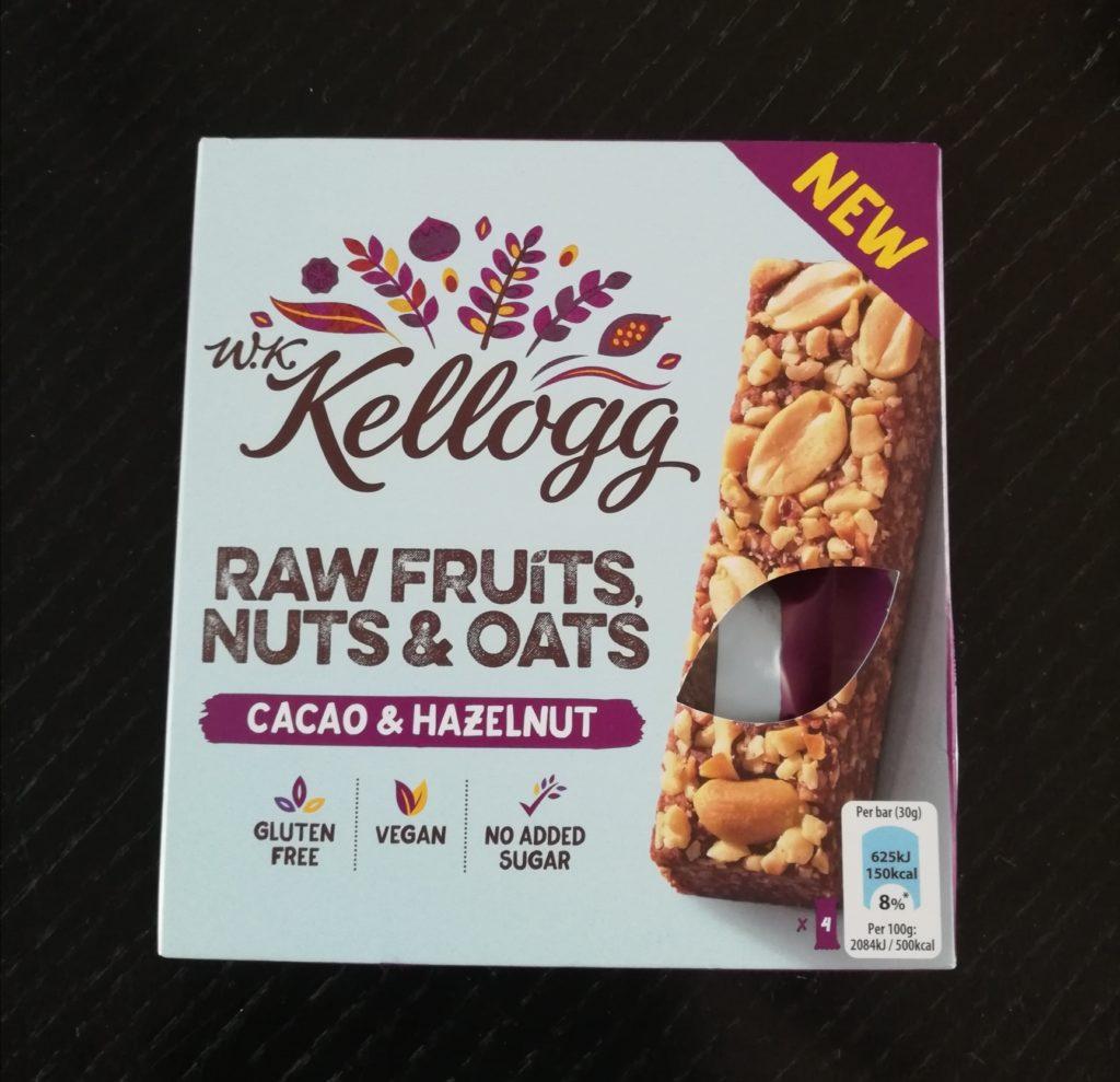 Cacao & Hazelnut Riegel von W.K. Kellog - Verpackung