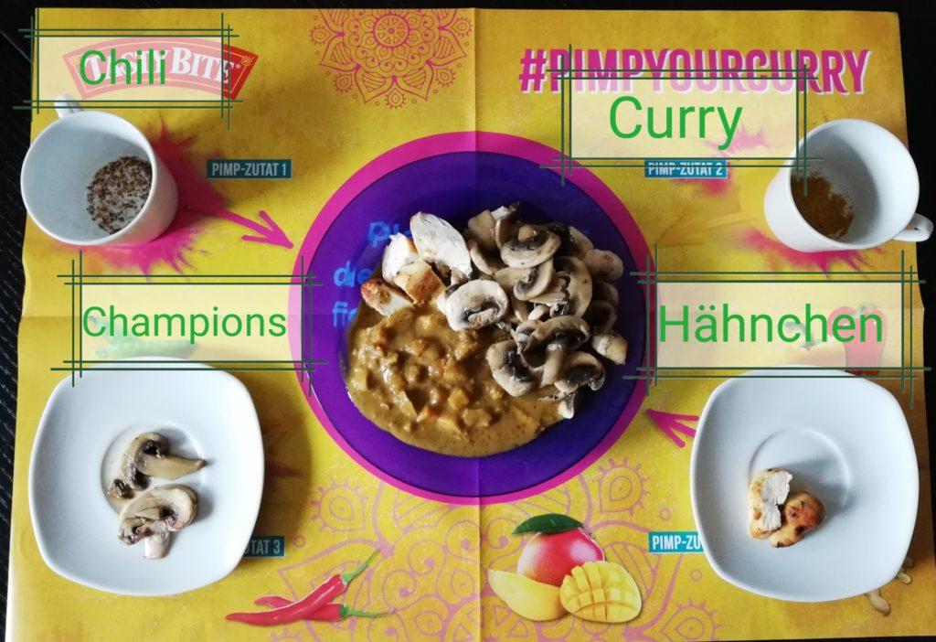 Curry mit Hühnchen und Champions