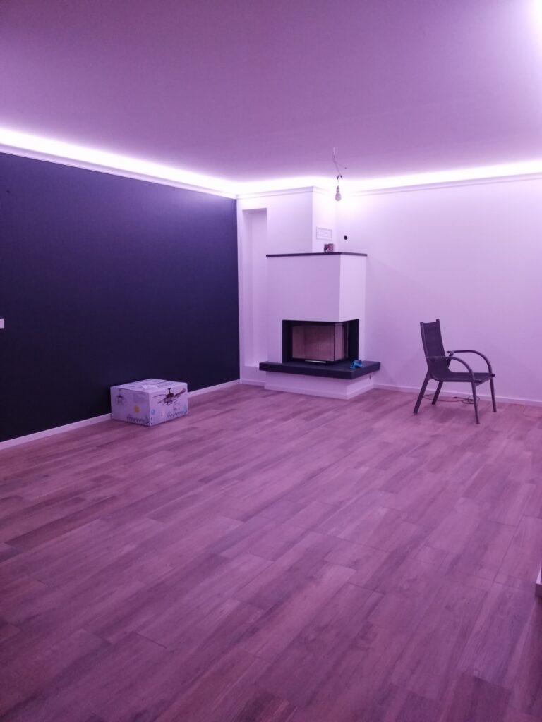 Lichtszenen im Wohnzimmer