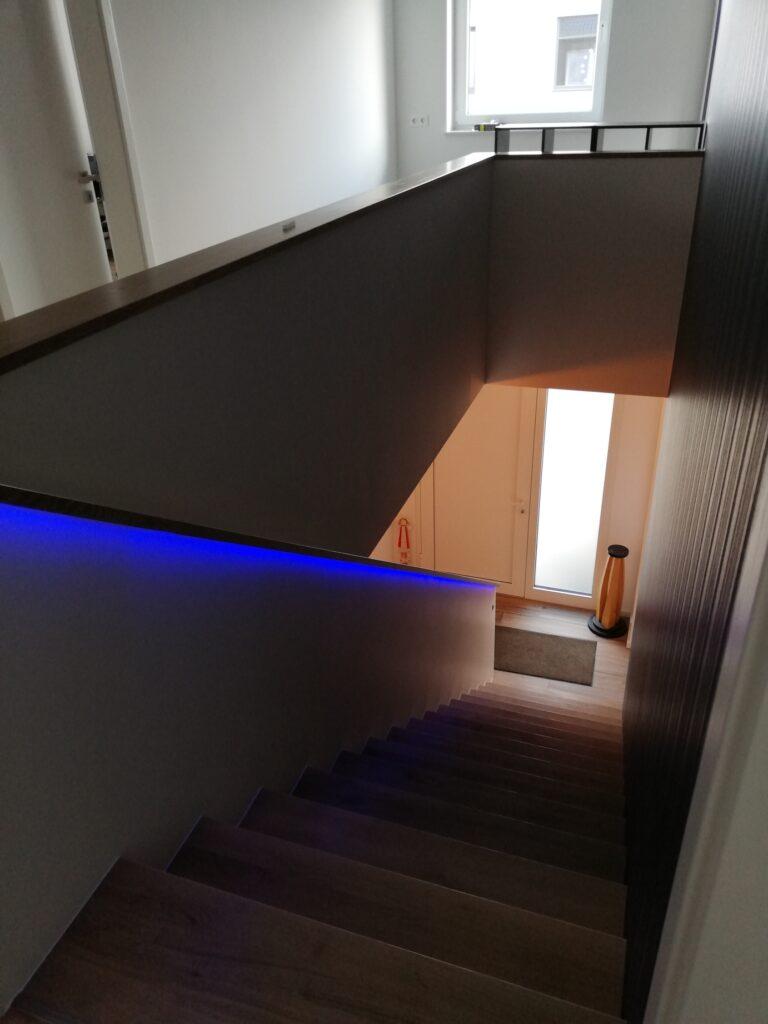 Indirekte Treppenbeleuchtung