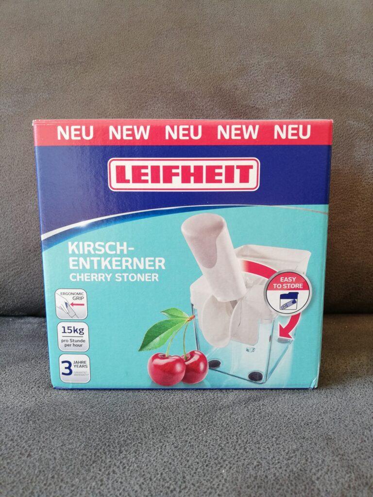 Verpackung Kirschentkerner Vorderseite