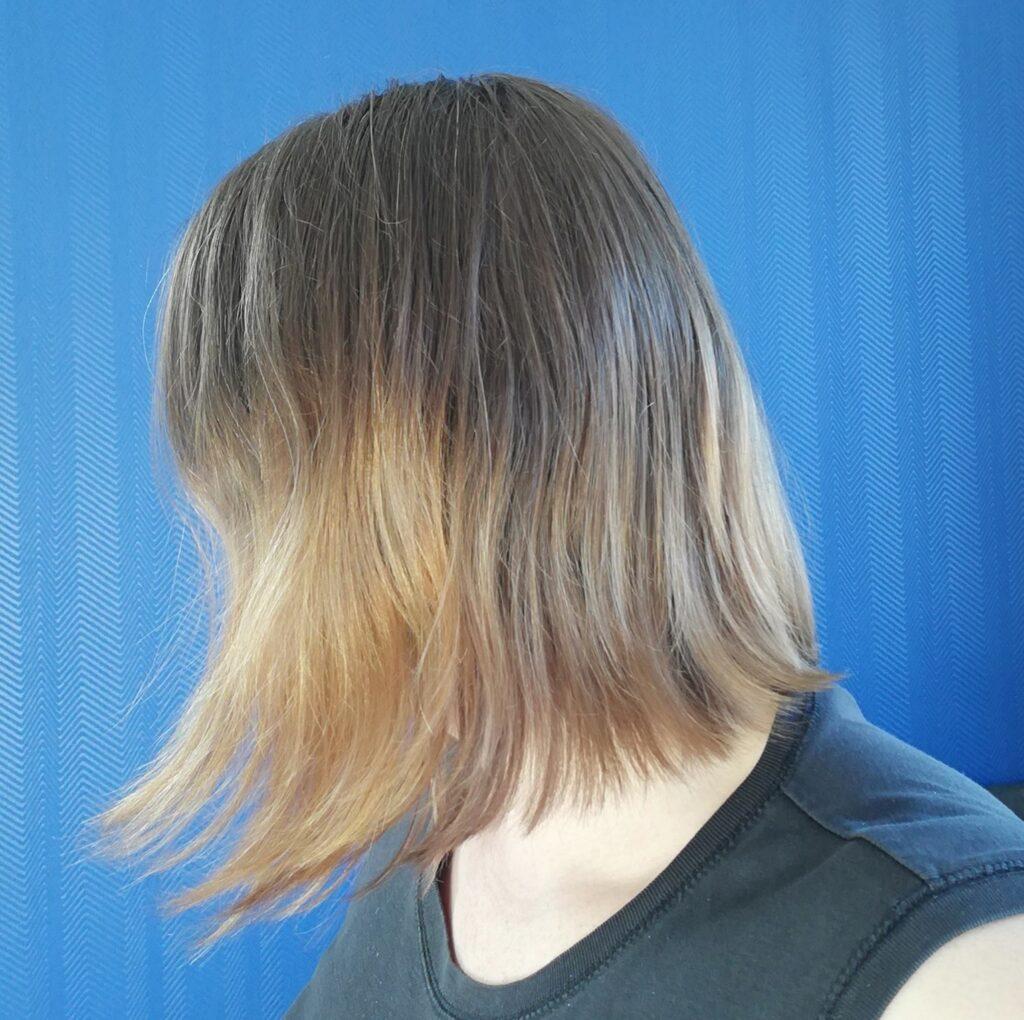 Vorher Bild der Haare