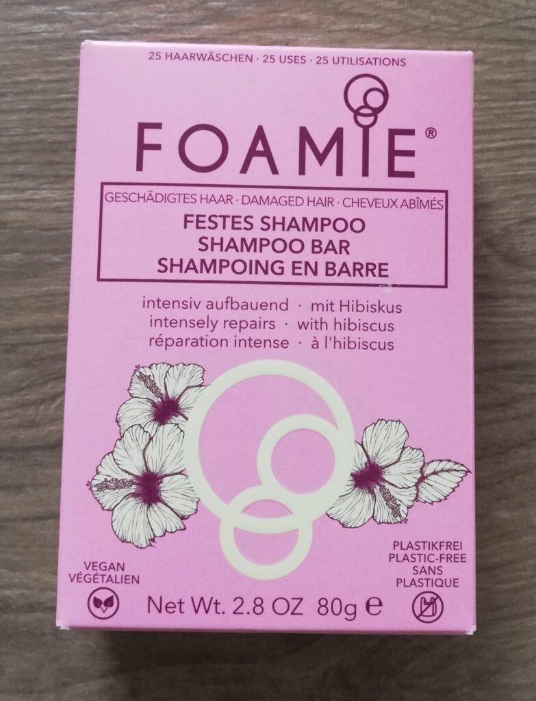 Umverpackung des festen Shampoos