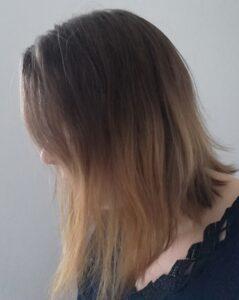 Meine Haare vor einem Monat
