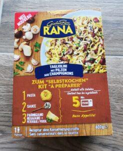 Verpackung Tagliolini mit Pilzen