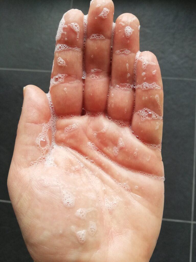 Aufgeschäumtes Duschgel