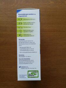 Beschreibung auf der Verpackung