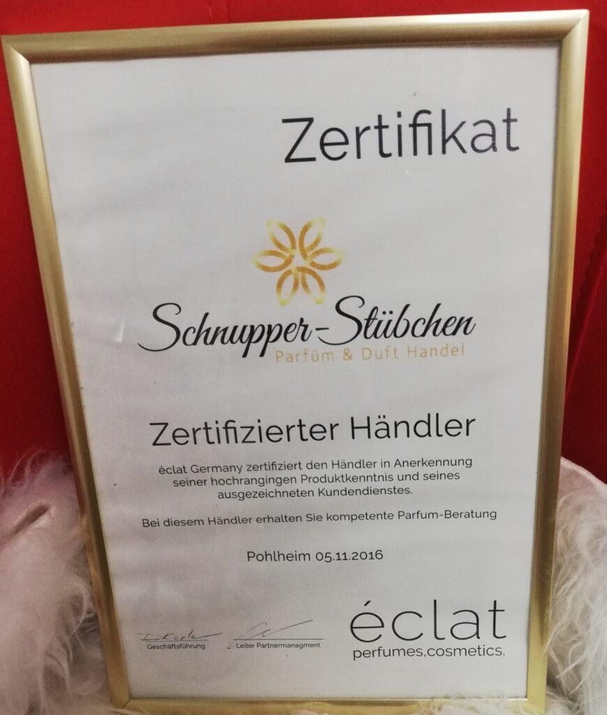 Zertifikat Eclat Händler