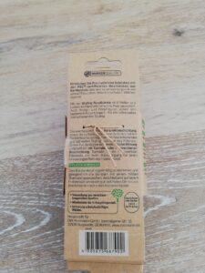 Rückseite der Verpackung