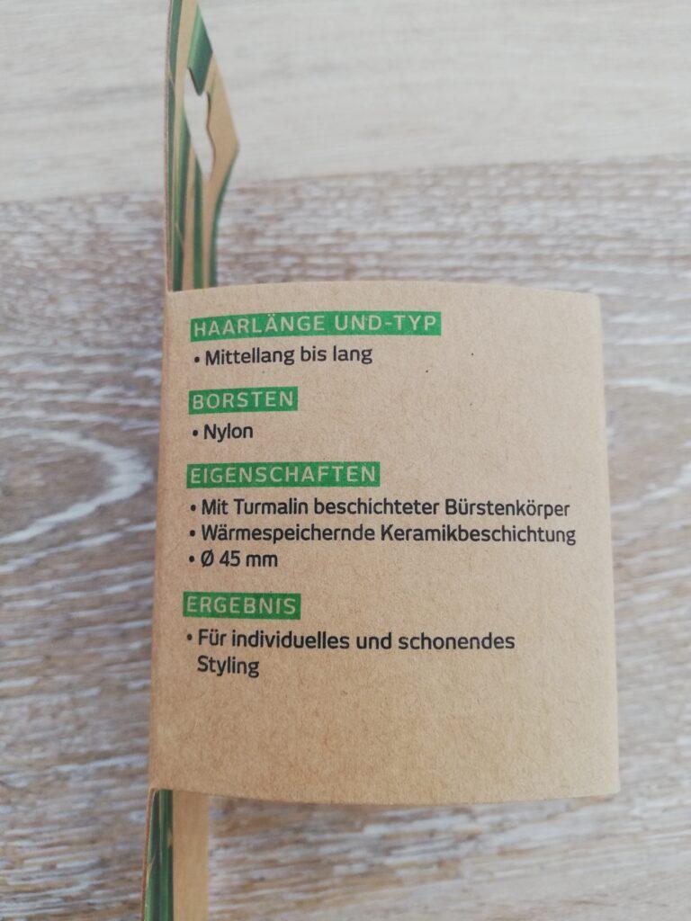 Seite der Verpackung