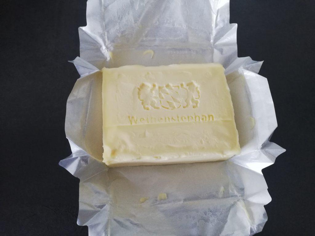 Entpackte Butter
