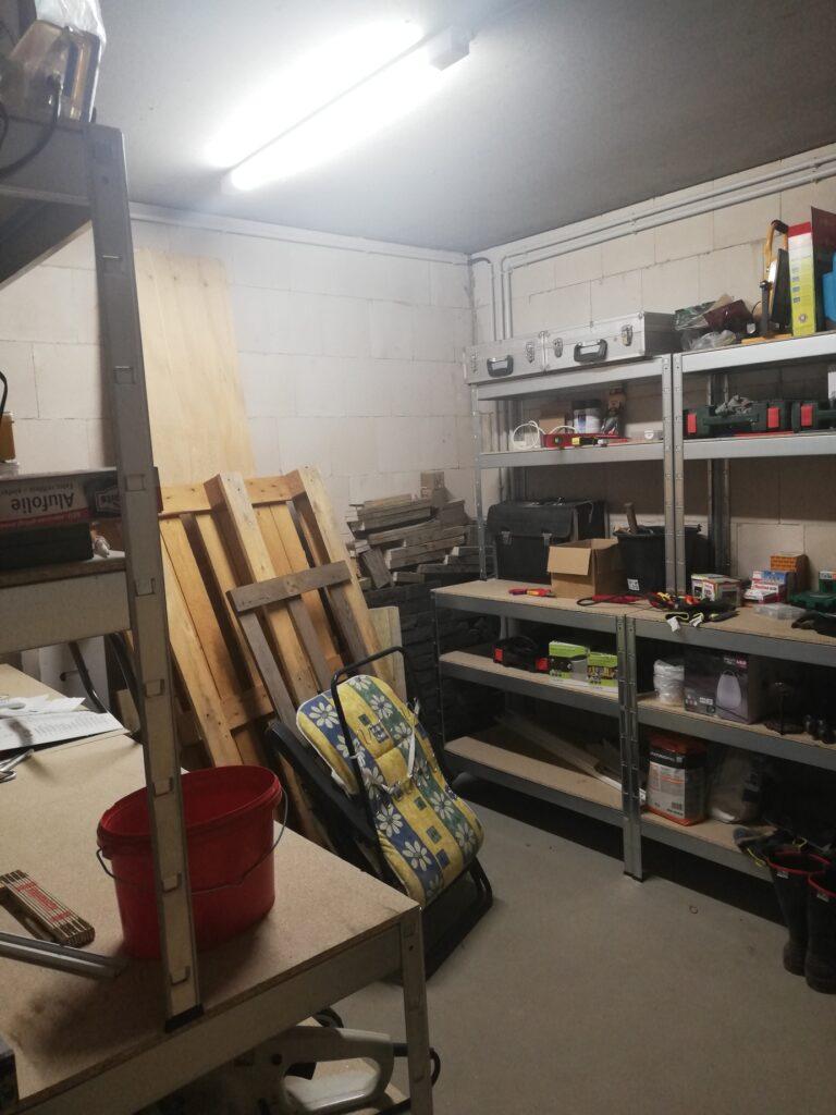 Anbau der Garage