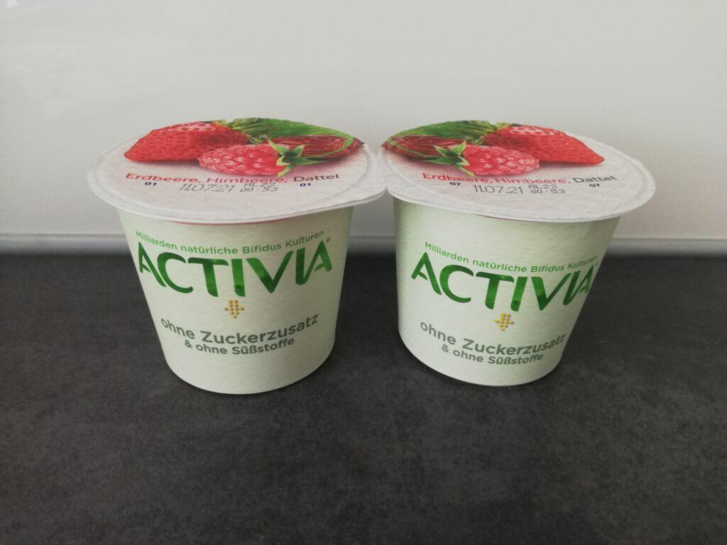 Activia ohne Zuckerzusatz Joghurtbecher